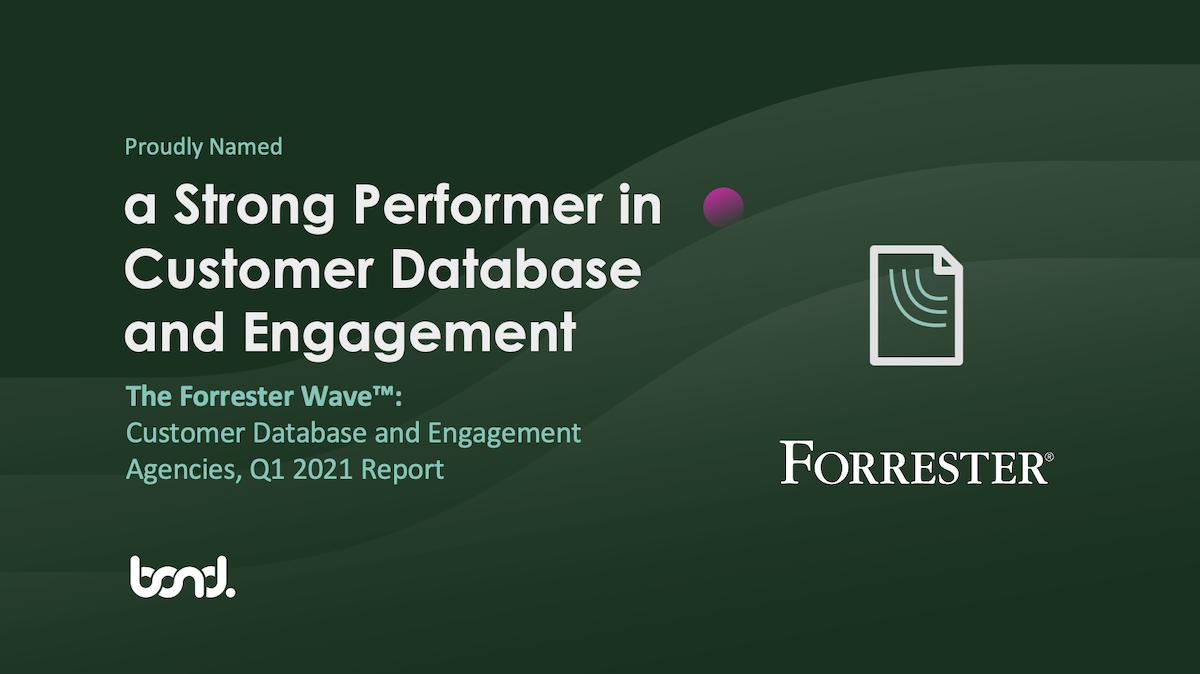 Bond Forrester Wave Database Engagement 2021
